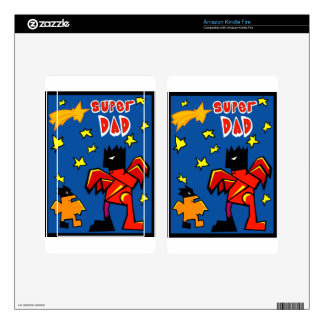 Super 4 Dad Kindle Fire Decal