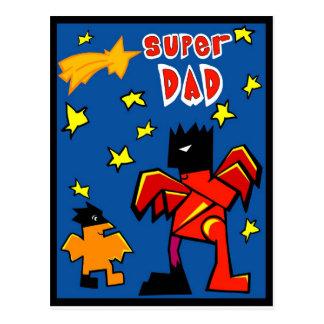 Super 4 Dad Postcard