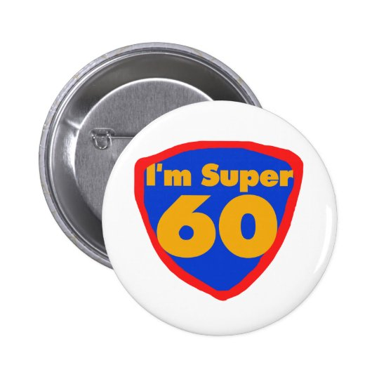 Super 60 pinback button