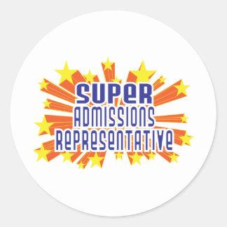 Super Admissions Representative Classic Round Sticker