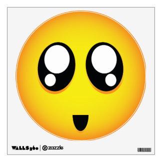 Super Adorable BIG eyes Emoji Wall Decal