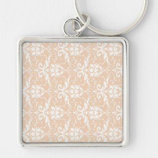 Super Agreeable Poised Up Silver-Colored Square Keychain
