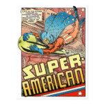 SUPER AMERICAN 1940's PULP COMICS HERO Postcard