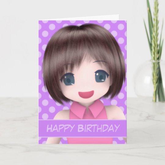 Super Anime Birthday Card Zazzle