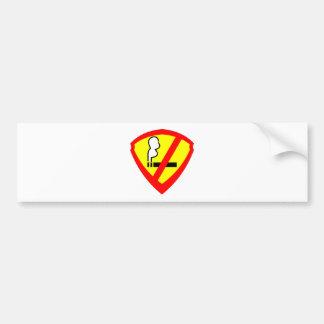 super anti smoking hero car bumper sticker