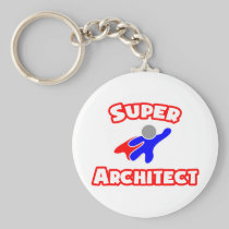 Super Architect Basic Round Button Keychain