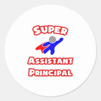 Super Assistant Principal Classic Round Sticker