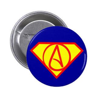 Super atheist button