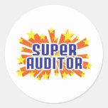 Super Auditor Classic Round Sticker