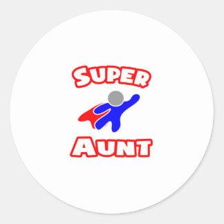 Super Aunt Classic Round Sticker