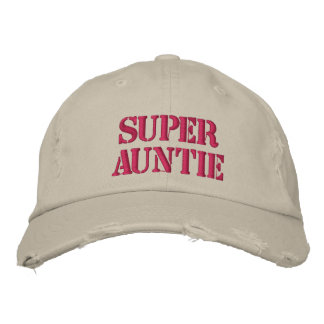 Super Auntie Distressed Baseball Hat