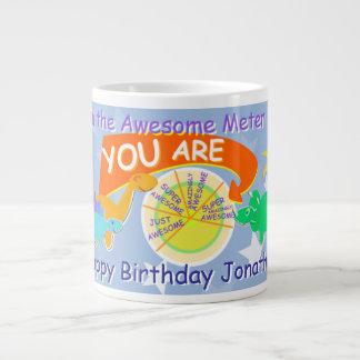 Super Awesome Cartoon Dinosaurs Huge Birthday Mug