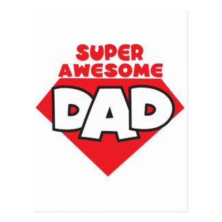 Super awesome dad postcard