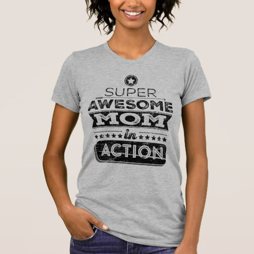 super awesome mom in action hipster style tshirt zazzle
