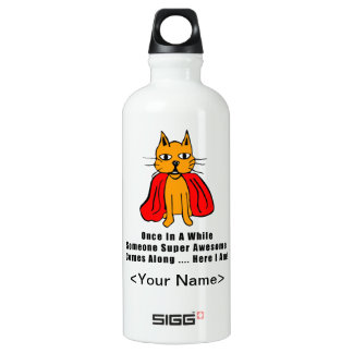Super Awesome Orange Cat with Red Cape SIGG Traveler 0.6L Water Bottle