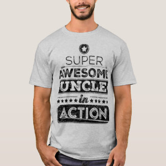 Super Awesome Uncle In Action (Hipster Style) T-Shirt