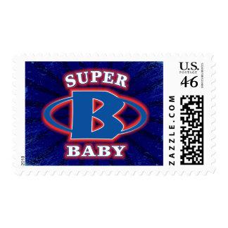 Super Baby Boys Postage Stamp