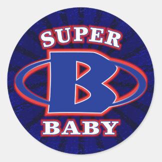 Super Baby Boys Round Sticker
