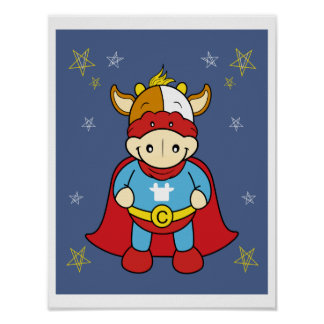 Super Baby Cow Poster