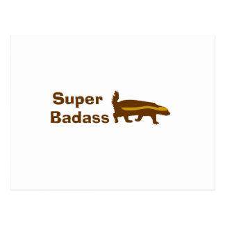 Super Badass Honey Badger Postcard