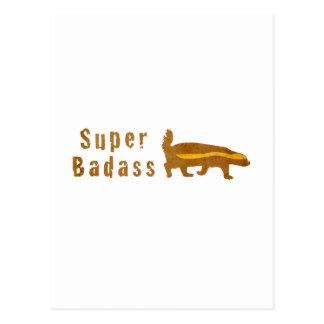 Super Badass Honey Badger - Vintage Postcard