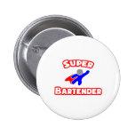 Super Bartender Pinback Button