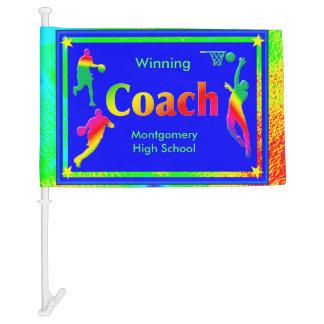 Super Basketball Lights for Coach - Custom Car Flag
