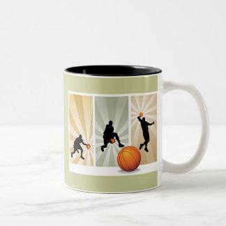 super-basketball Two-Tone coffee mug