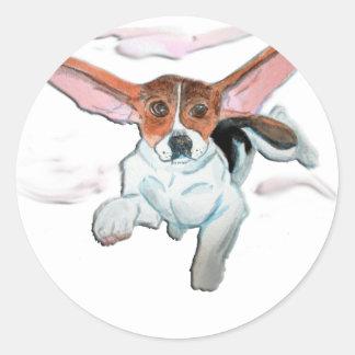 Super  beagle classic round sticker