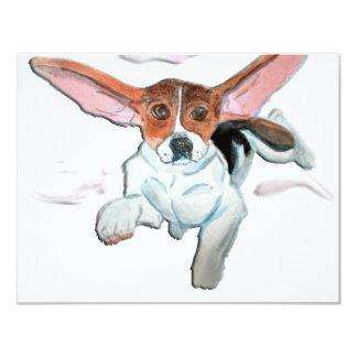 Super  beagle 4.25x5.5 paper invitation card