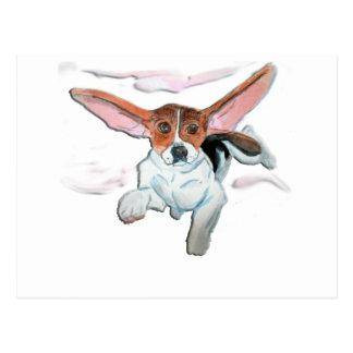 Super  beagle postcard