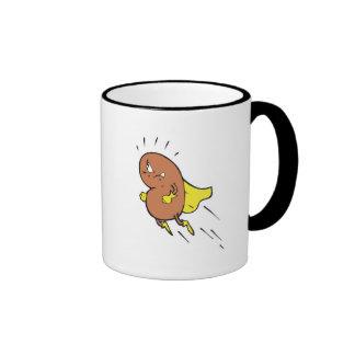 super bean cartoon character coffee mug