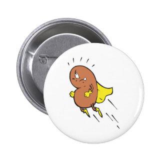 super bean cartoon character pins