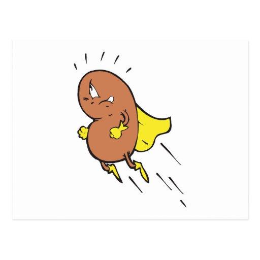 super bean cartoon character postcard