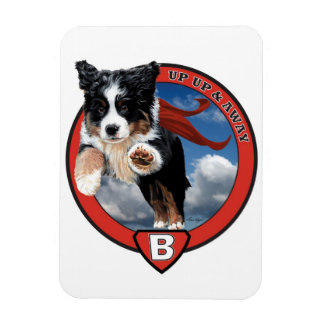 Super Berner!!! To the rescue!! Great fun Rectangular Photo Magnet