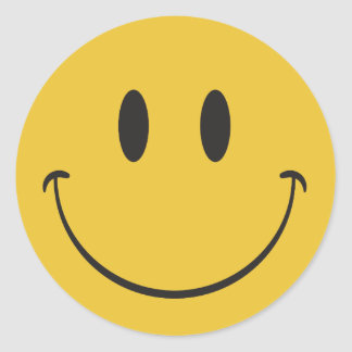 Happy Face Emoji Stickers | Zazzle