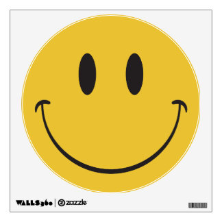 Super big smile happy face Emoji Wall Decal