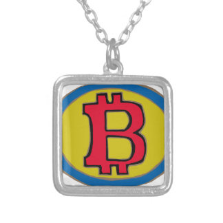 Super Bitcoin Silver Plated Necklace