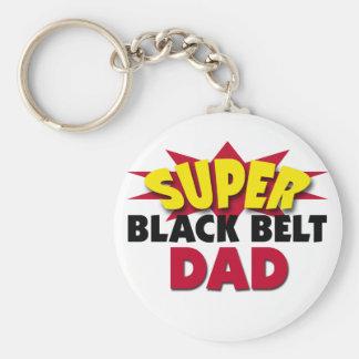 Super Black Belt Dad Keychain