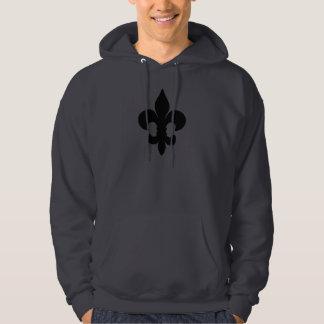 Super Black Fleur de lis Hoodie