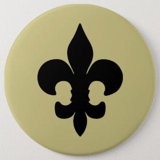 Super Black Fleur de lis Pinback Button