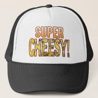 Super Blue Cheesy Trucker Hat
