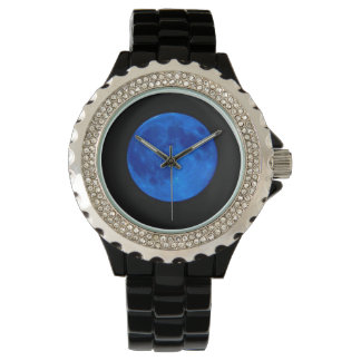 """Super Blue Moon"" Wrist Watch"