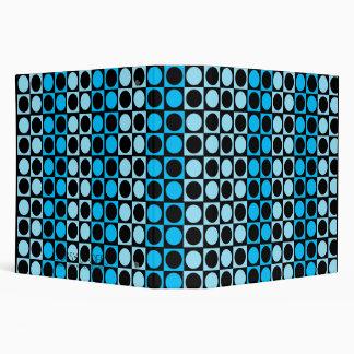Super Blue Skies Retro Pattern Binder