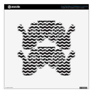 Super Bold Chevron Pattern PS3 Controller Decal