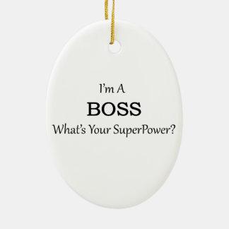 Super Boss Ceramic Ornament