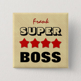 Super BOSS with Stars RED and TAN V19A Button