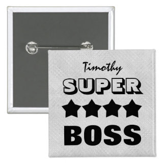 Super BOSS with Stars SILVER and BLACK V19B Button