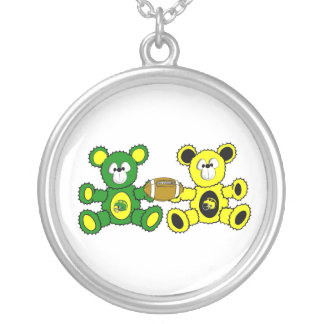 Super Bowl Football Bears Necklace