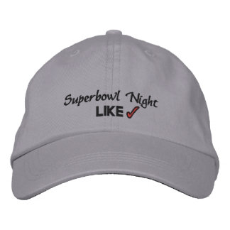 Super Bowl Night Embroidered Baseball Hat